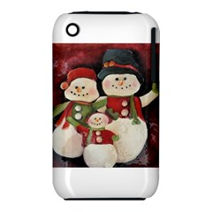 Snowman Family No. 2 Apple iPhone 3G/3GS Hardshell Case (PC+Silicone)