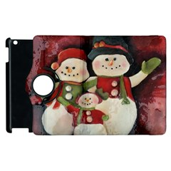 Snowman Family No. 2 Apple iPad 3/4 Flip 360 Case