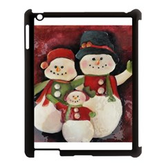 Snowman Family No. 2 Apple iPad 3/4 Case (Black)