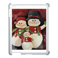 Snowman Family No. 2 Apple iPad 3/4 Case (White)