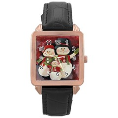 Snowman Family No. 2 Rose Gold Watches