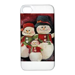 Snowman Family No. 2 Apple iPhone 4/4S Hardshell Case with Stand