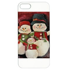 Snowman Family No. 2 Apple iPhone 5 Hardshell Case with Stand