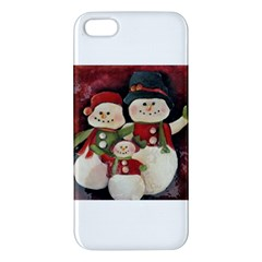 Snowman Family No. 2 Apple iPhone 5 Premium Hardshell Case