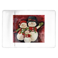 Snowman Family No  2 Samsung Galaxy Tab 10 1  P7500 Flip Case by timelessartoncanvas