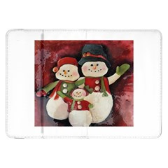 Snowman Family No. 2 Samsung Galaxy Tab 8.9  P7300 Flip Case