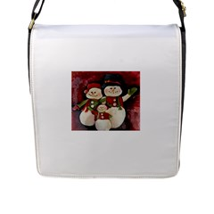 Snowman Family No. 2 Flap Messenger Bag (L)
