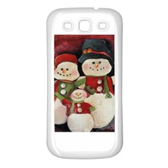 Snowman Family No. 2 Samsung Galaxy S3 Back Case (White)