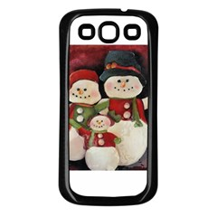 Snowman Family No. 2 Samsung Galaxy S3 Back Case (Black)