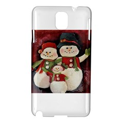 Snowman Family No. 2 Samsung Galaxy Note 3 N9005 Hardshell Case