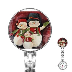 Snowman Family No. 2 Stainless Steel Nurses Watches