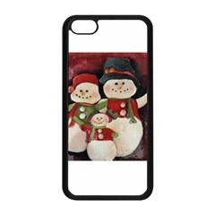 Snowman Family No. 2 Apple iPhone 5C Seamless Case (Black)