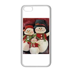 Snowman Family No. 2 Apple iPhone 5C Seamless Case (White)