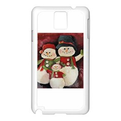 Snowman Family No. 2 Samsung Galaxy Note 3 N9005 Case (White)