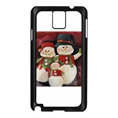 Snowman Family No. 2 Samsung Galaxy Note 3 N9005 Case (Black)