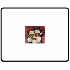Snowman Family No. 2 Double Sided Fleece Blanket (Medium)