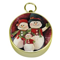 Snowman Family No. 2 Gold Compasses