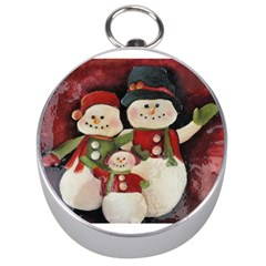Snowman Family No. 2 Silver Compasses