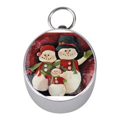 Snowman Family No. 2 Mini Silver Compasses
