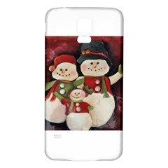 Snowman Family No. 2 Samsung Galaxy S5 Back Case (White)