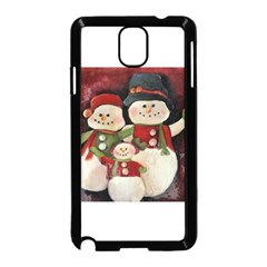 Snowman Family No. 2 Samsung Galaxy Note 3 Neo Hardshell Case (Black)