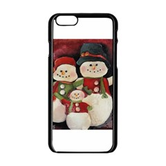 Snowman Family No. 2 Apple iPhone 6 Black Enamel Case