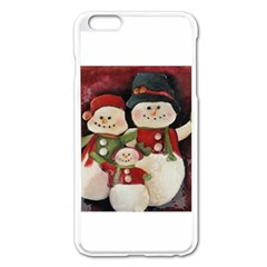 Snowman Family No. 2 Apple iPhone 6 Plus Enamel White Case