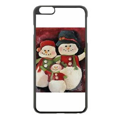 Snowman Family No. 2 Apple iPhone 6 Plus Black Enamel Case