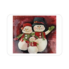 Snowman Family No. 2 Double Sided Flano Blanket (Mini)