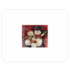 Snowman Family No. 2 Double Sided Flano Blanket (Medium)