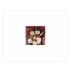 Snowman Family No. 2 Double Sided Flano Blanket (Large)