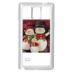 Snowman Family No. 2 Samsung Galaxy Note 4 Case (White)