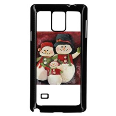 Snowman Family No. 2 Samsung Galaxy Note 4 Case (Black)