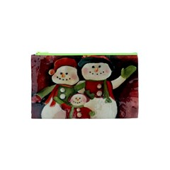 Snowman Family No. 2 Cosmetic Bag (XS)