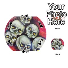 Halloween Skulls No 1 Playing Cards 54 (round)  by timelessartoncanvas