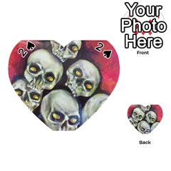 Halloween Skulls No 1 Playing Cards 54 (heart)  by timelessartoncanvas