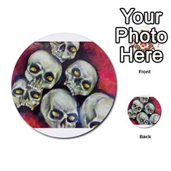 Halloween Skulls No 1 Multi Purpose Cards (round)  by timelessartoncanvas