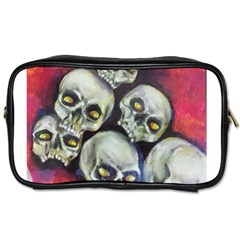 Halloween Skulls No 1 Toiletries Bags 2 Side by timelessartoncanvas