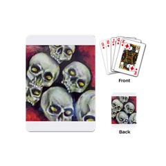 Halloween Skulls No 1 Playing Cards (mini)  by timelessartoncanvas