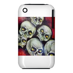 Halloween Skulls No 1 Apple Iphone 3g/3gs Hardshell Case (pc+silicone) by timelessartoncanvas