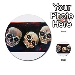 Halloween Skulls No  2 Multi Purpose Cards (round)  by timelessartoncanvas