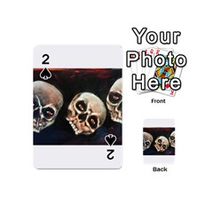 Halloween Skulls No  2 Playing Cards 54 (mini)  by timelessartoncanvas