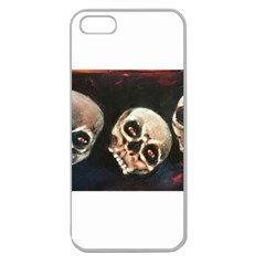 Halloween Skulls No  2 Apple Seamless Iphone 5 Case (clear) by timelessartoncanvas