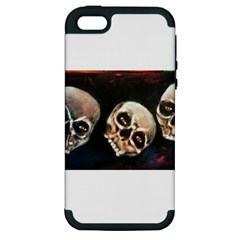 Halloween Skulls No  2 Apple Iphone 5 Hardshell Case (pc+silicone) by timelessartoncanvas