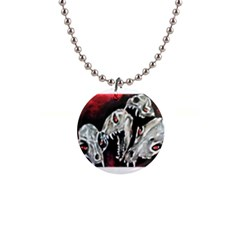 Halloween Skulls No  3 Button Necklaces by timelessartoncanvas
