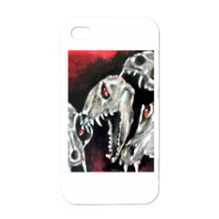 Halloween Skulls No  3 Apple Iphone 4 Case (white) by timelessartoncanvas