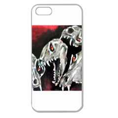 Halloween Skulls No  3 Apple Seamless Iphone 5 Case (clear) by timelessartoncanvas