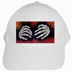 Halloween Bones White Cap by timelessartoncanvas