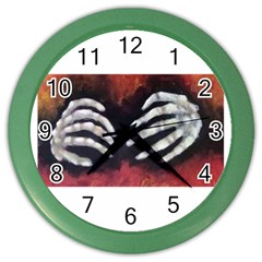Halloween Bones Color Wall Clocks