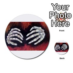 Halloween Bones Multi Purpose Cards (round)  by timelessartoncanvas